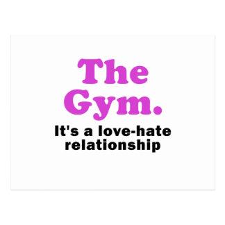 Cartão Postal O Gym seu uma relação amor ódio