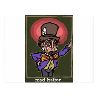 Cartão Postal O Hatter louco