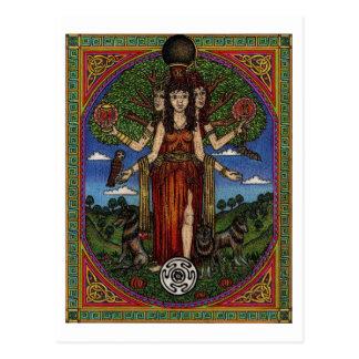 Cartão Postal o hecate da deusa (imagem e synbols) 001 t,