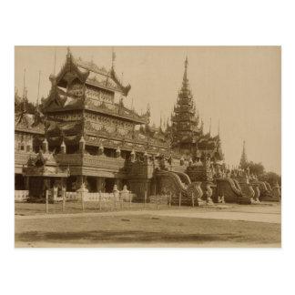 Cartão Postal O Hman Kyaung ou o monastério de vidro, Burma