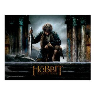 Cartão Postal O Hobbit - cartaz cinematográfico de BILBO