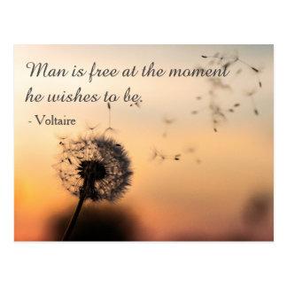 Cartão Postal O homem é citações livres de Voltaire