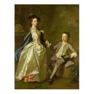 Cartão Postal O Hon. Rachel Hamilton e seu irmão