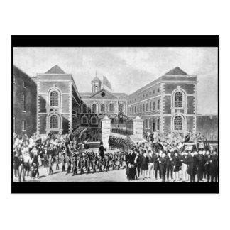 Cartão Postal O hospital do Azul-Casaco, Liverpool, 1843