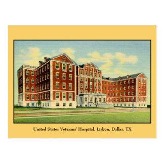 Cartão Postal O hospital dos veteranos dos E.U., Lisboa, Dallas,