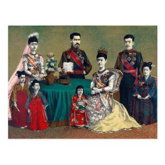 Cartão Postal O imperador de Meiji de Japão e da família