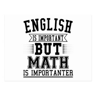 Cartão Postal O inglês é importante mas a matemática é chalaça
