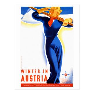 Cartão Postal O inverno em Áustria restaurou o poster das