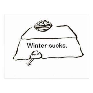 Cartão Postal O inverno suga