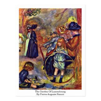 Cartão Postal O jardim de Luxembourg por Pierre-Auguste Renoir