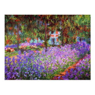 Cartão Postal O jardim do artista em Giverny por Monet