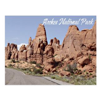 Cartão Postal O jardim do diabo arqueia o parque nacional, Utá -