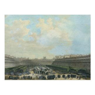 Cartão Postal O jardim do Palais Royal, 1791