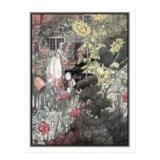 Cartão Postal O jardim do pobre homem por Charles Robinson