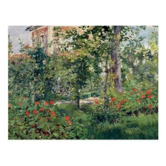Cartão Postal O jardim em Bellevue, 1880
