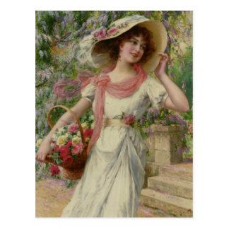 Cartão Postal O jardim - Émile Vernon