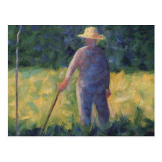 Cartão Postal O jardineiro - Georges Seurat