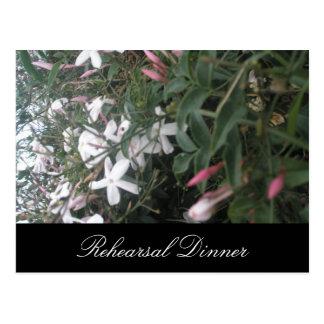 Cartão Postal O jasmim Bush que Wedding o jantar de ensaio