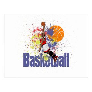 Cartão Postal O jogador de basquetebol com pintura espirra