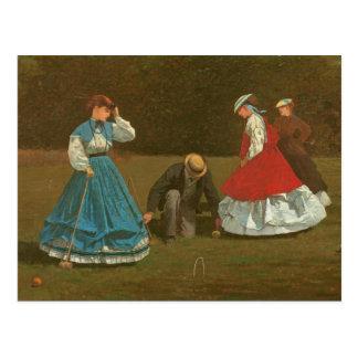 Cartão Postal O jogo do croquet, 1866 (óleo em canvas)