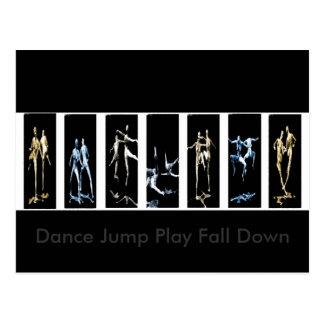 Cartão Postal O jogo do salto da dança cai para baixo