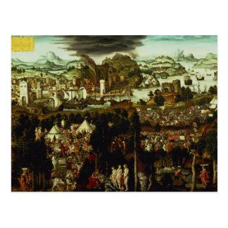 Cartão Postal O julgamento de Paris e da guerra Trojan, 1540