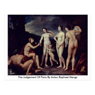 Cartão Postal O julgamento de Paris por Anton Raphael Mengs