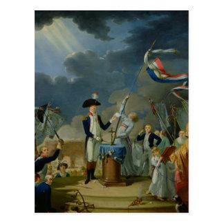 Cartão Postal O juramento de Lafayette