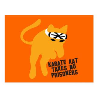 Cartão Postal O karaté KAT (gato) não toma nenhum prisioneiro
