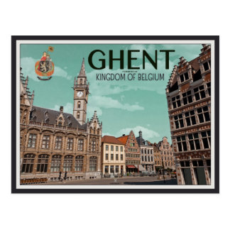 Cartão Postal O Korenmarkt - o Ghent