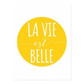 Cartão Postal o la vie o belle do est, vida é bonito, francês