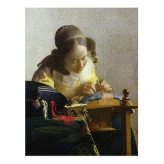 Cartão Postal O Lacemaker, 1669-70