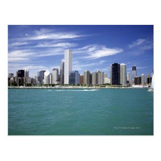 Cartão Postal O Lago Michigan, skyline, destinos do viagem,