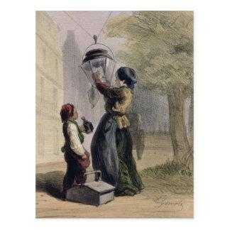 Cartão Postal O Lamplighter, 'de Les Femmes de Paris
