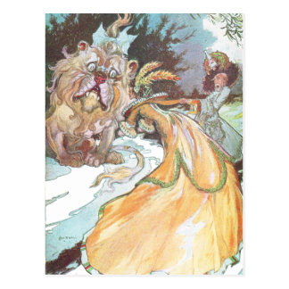 Cartão Postal O leão e a tia Em
