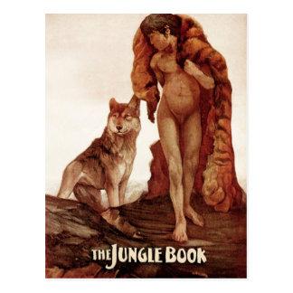 Cartão Postal O livro da selva: Mowgli e o lobo solitário