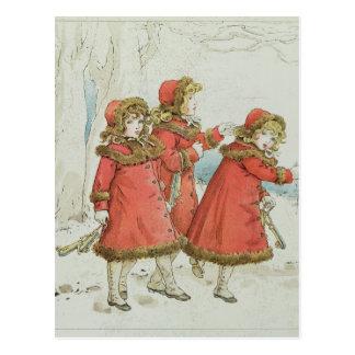 Cartão Postal O livro dos acordos, 1900 do bebê de Winter desde