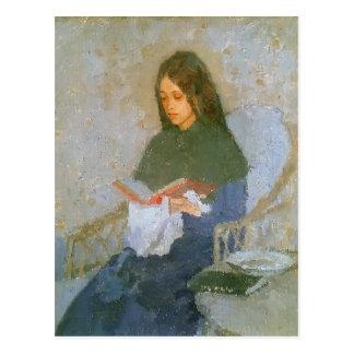 Cartão Postal O livro precioso por Gwen John