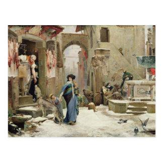 Cartão Postal O lobo de Gubbio, 1877