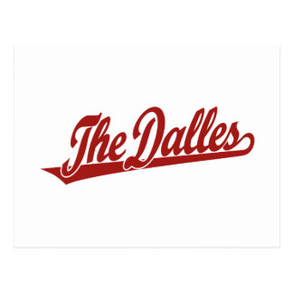 Cartão Postal O logotipo do roteiro de Dalles no vermelho