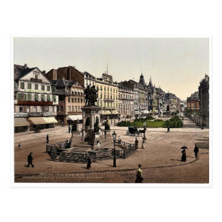 Cartão Postal O lugar de Goethe e o monumento de