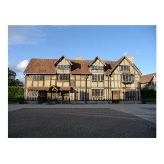 Cartão Postal O lugar de nascimento de Shakespeare em Stratford