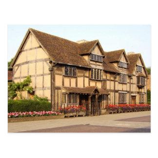 Cartão Postal O lugar de nascimento de Shakespeare, Stratford-em