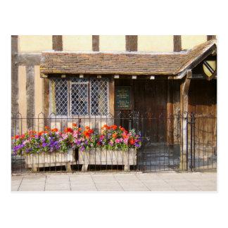 Cartão Postal O lugar de nascimento de William Shakespeare