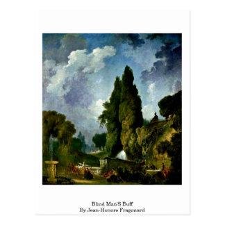 Cartão Postal O lustre de homens cegos por Jean-Honore Fragonard