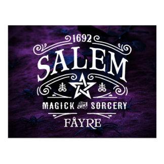 Cartão Postal O Magick 1692 das bruxas de Salem Fayre