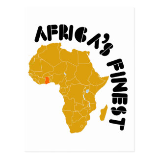 Cartão Postal O mapa o mais fino de Ghana, África de África