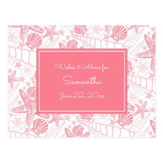 Cartão Postal O mar cor-de-rosa descasca o conselho do chá de