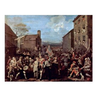 Cartão Postal O março das guardas a Finchley por Hogarth