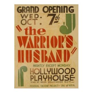 Cartão Postal O marido de Warrors